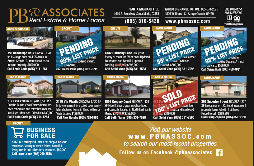 PB & Associates | See our Ad in the January Issue of Real Estate Book